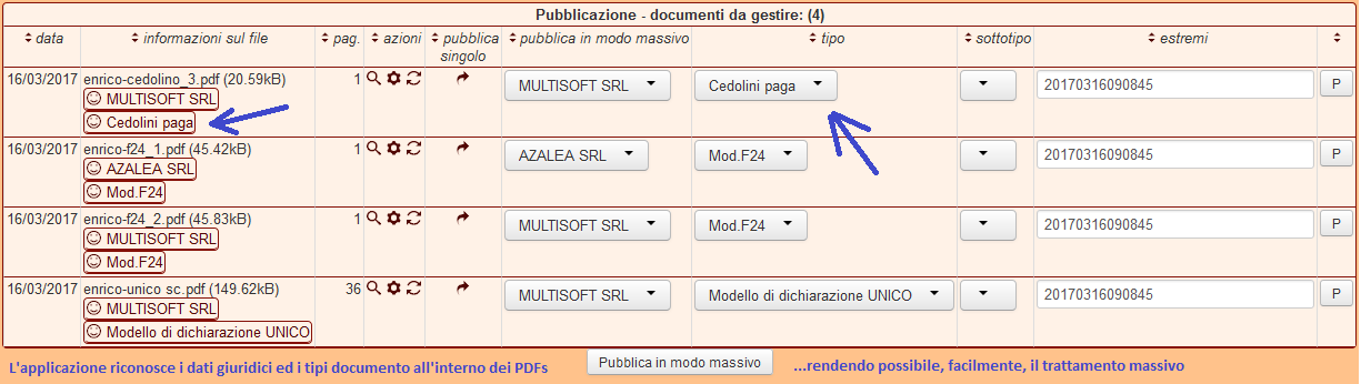 screenshot riconoscimento documenti PDF